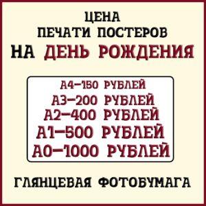 Цена-печати-постеров-на-день-рождения-на-глянцевой-фотобумаге